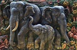 砖大象 免版税库存照片