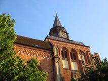 砖天主教会 免版税库存照片