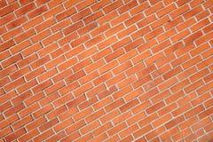 砖对角现代红色墙壁 免版税库存照片