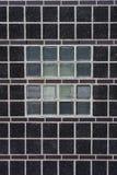 砖小的方形墙壁 免版税库存照片