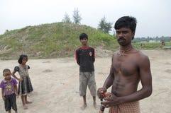 砖工厂在印度 免版税库存照片