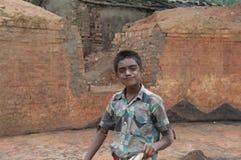 砖工厂在印度 图库摄影