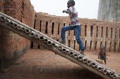 砖工厂在印度 免版税图库摄影