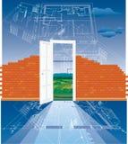 砖建筑 免版税图库摄影