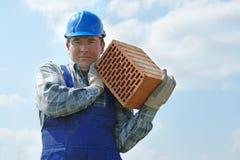 砖建造者凹陷 免版税图库摄影