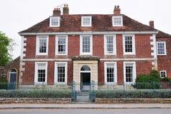 砖房子红色 免版税库存照片