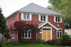 砖房子红色 免版税库存图片