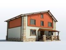 砖房子 免版税库存图片