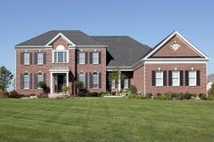 砖报道了入口家庭豪华 免版税库存照片