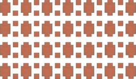 砖抽象背景 石马赛克梯形无限重复的样式 库存图片