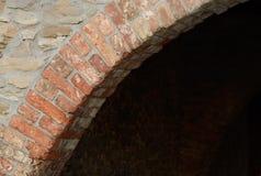 砖拱道 免版税库存照片
