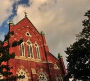 砖教会 免版税库存图片