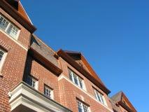 砖新的市内住宅 免版税库存图片