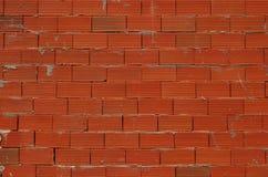 砖新的红色墙壁 库存照片