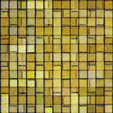 砖方形瓦片黄色 免版税库存照片