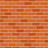 砖无缝的向量墙壁 库存照片