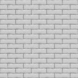 砖无缝的墙壁白色 免版税库存图片