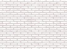 砖无缝的墙壁白色 免版税库存照片