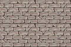 砖无缝的灰色褐色 免版税库存照片