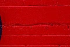 砖明亮的红色墙壁 免版税库存图片