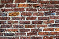 砖明暗差别强烈墙壁 库存图片