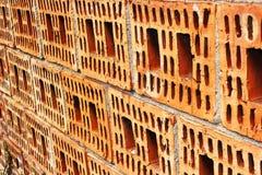 砖未完成的墙壁 免版税库存照片