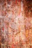 砖杂乱红色饱和的墙壁 库存照片