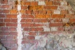 砖构造了老红颜色背景或墙纸  免版税图库摄影