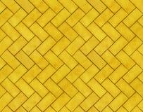 砖构造tileable黄色 免版税库存图片