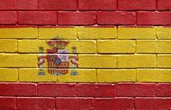 砖标志西班牙墙壁 库存图片