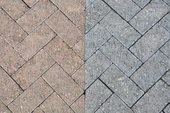 砖样式路 库存照片