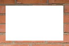 砖框架做红色墙壁 免版税库存图片