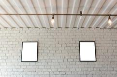 砖框架照片墙壁 免版税图库摄影