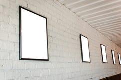 砖框架照片墙壁 图库摄影