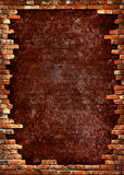 砖框架脏的墙壁 库存例证