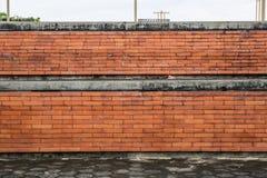 砖棕色花前面庭院墙壁 图库摄影