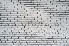 砖概略的墙壁白色 库存照片