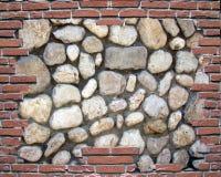 砖模式石墙 免版税库存图片