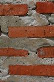 砖模式红色墙壁 库存图片