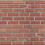 砖模式红色无缝 库存图片