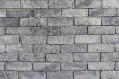 砖灰色纹理墙壁 免版税图库摄影