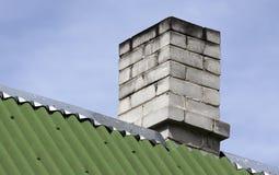 砖烟囱 免版税库存照片