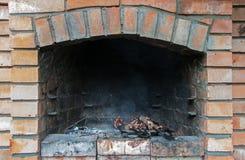 砖烤肉 库存照片