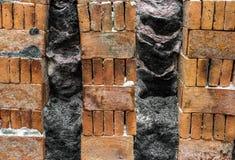砖烧伤完成 免版税库存图片