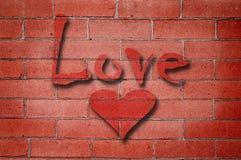 砖爱墙壁 图库摄影