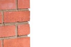 砖片段红色墙壁 免版税库存照片