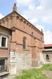 砖犹太教堂在克拉科夫 免版税库存图片