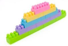 砖玩具墙壁 库存图片