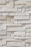 砖现代墙壁白色 图库摄影