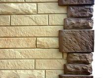 砖现代模式墙壁 免版税库存图片